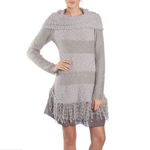 Ryu Fringed Lace Sweater Dress